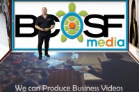 Jack Schulman stading in front of BCOSF media. We can produce Business Videos.